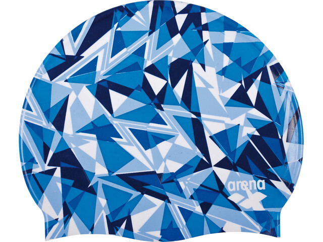 arena Print 2 Swimming Cap shattered glass royal